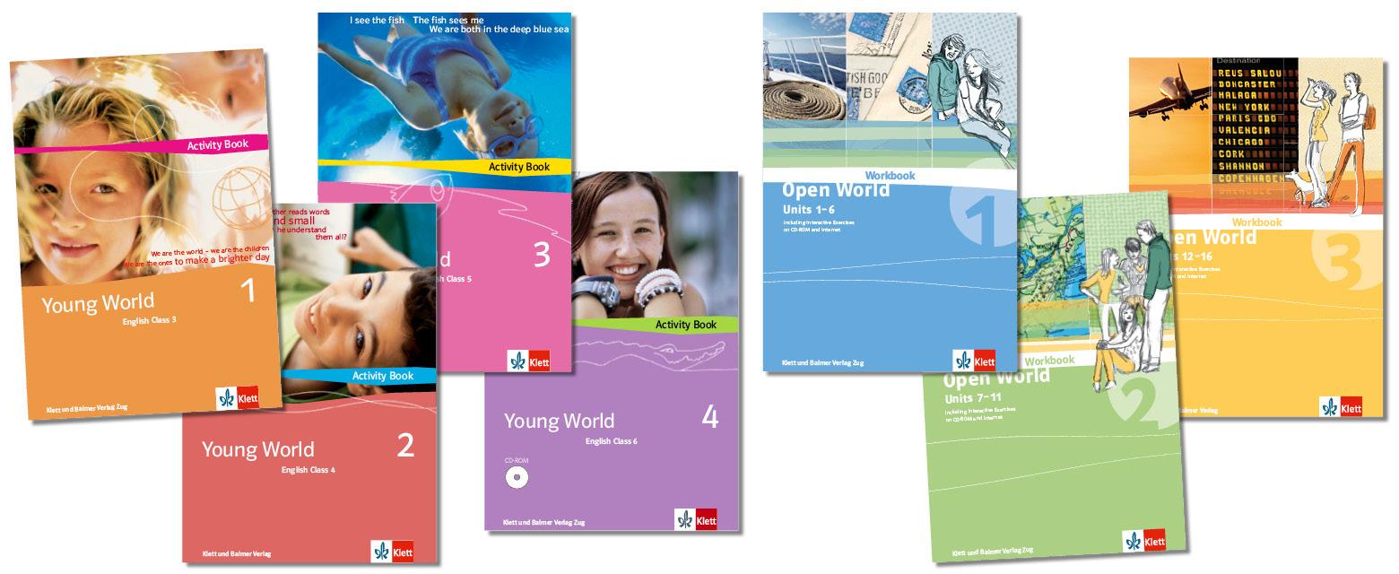Teaser stufenuebergreifende lehrwerksteile young world 1 4 open world 1 3 klett und balmer